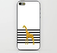 Striped Golden Deer Pattern hard Case for iPhone 6