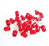 rosso 10 millimetri luce led diodi emettitori di luce per la prova di Arduino (10 pz)