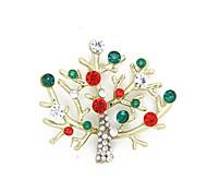 árvore de natal presente de natal broche de