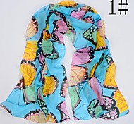 moda impressão borboleta lenço das mulheres