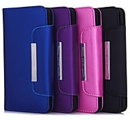 Wallet Style Magnet Buckle PU Leather Full Body Cases with Stand and Card Slot for iPhone 6 (Assorted Colors)