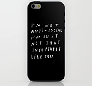 I'm Not Pattern hard Case for iPhone 6