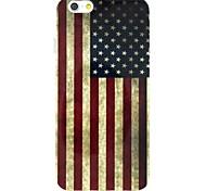 Die Retro-Nationalflagge von USA-Muster-TPU weiche rückseitigen Abdeckung für iphone 6 / 6S