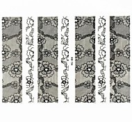 Lovely Nail Art Stickers Decals Wedding Lace Series Nail Accessory for Acrylic Nail Tips DIY Nail Art DecorationsNO.04