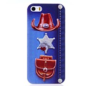 Sheriff Jeans Pattern Relief Hard Case for iPhone 5/5S