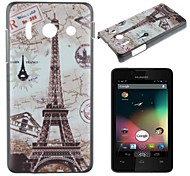 Maps and the Eiffel Tower Pattern PC Hard Case for Huawei Y300