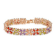 ROXI Swiss Cz 14Kgp Luxury Flower Bracelet Arrow Heart Cuting Colorfull Set Jewelry For Queen