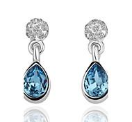 blu orecchini moda a goccia-goccia platino goccia (blu) (1pair)