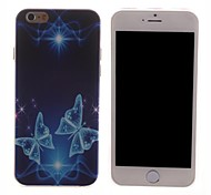 Blue Butterfly Design PC Hard Case for iPhone 6 Plus