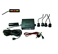 Car LED Parking Reverse Backup Radar System with 4 Sensors