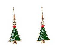 Cute Enamel Christmas Tree Earrings