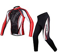 Santic Men's  Fall and Winter Style Fashion Long Sleeve Cycling Jersey With Pants
