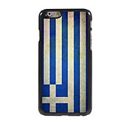 Vintage The Flag of Greece Pattern Aluminum Hard Case for iPhone 6