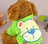 Dog Coat Green / Pink Winter Animal / Cartoon