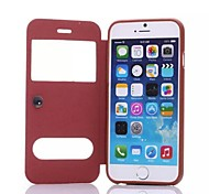 Up and Down Window Sheepskin Lines PU Full Body Case with Stand for iPhone 6 Plus (Assorted Colors)