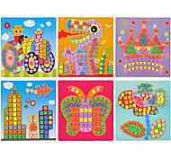6pcs eva dot mosaico adesivi 3d mano bambini di puzzle fai da te giocattoli di terra felice cielo