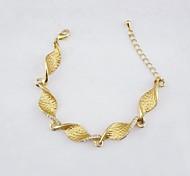 18K Golden Plated Spiral Chain Zircon Bracelet 22cm