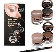 braun und schwarz Augenbrauen färben Creme mit schwarzen Augenbrauenpuder