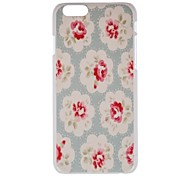 Clear Flower  Hard PC  Cover for Apple iPhone 6 plus