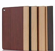 9.7 Inch Two Folding Pattern Grain of Wood Leather Case for iPad Air 2(Assorted Colors)