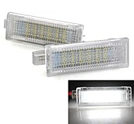 2 White 18 LED 3528 SMD Courtesy Door Light Lamp for BMW Mini Cooper R50 R52 R53
