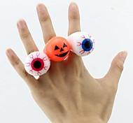 LED Luminous Eye Ball Shaped Ring Random Color