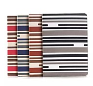 Stripe Pattern PU Leather and Hard Back Cover Pouch for iPad Air 2