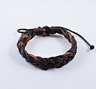 forme de queue de cheval les bracelets en cuir PU de punks hommes