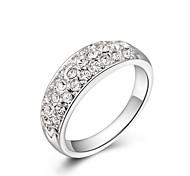 Классические кольца Кристалл Хрусталь Позолота Имитация Алмазный Камни по месяцу рождения Серебряный Золотой БижутерияСвадьба Для