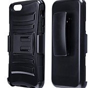 Hybrid 2 in 1 Protective Plastic Hard Case with Stand for iPhone 6