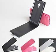 vendita calda 100% cassa dell'unità di elaborazione del cuoio di vibrazione del cuoio per il Meizu MX4 (colori assortiti)