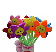 6PCS New Beauty Plush Sunflower Pens