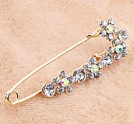 Korean Version Sweet Alloy Rhinestone Big Pin Brooch