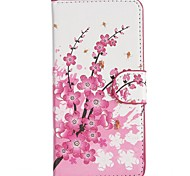Plum Blossoms Pattern PU Leather Full Body Cover with Stand for HTC Desire 610