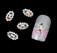 10pcs Fashion Oval Rhinestone DIY Alloy Accessories Nail Art Decoration