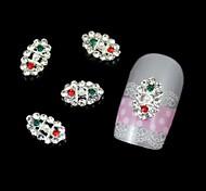 Art und Weise 10pcs oval Strass DIY Legierungszusätze Nagelkunstdekoration