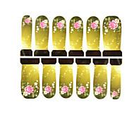 12pcs Blumenmuster Wasserzeichen Nail Art Sticker c4-015