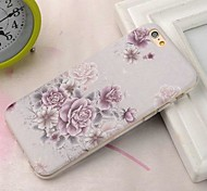 Fashion Painted Flowers TPU Soft Case for iPhone 6 Plus