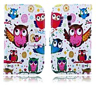 Bird Pattern PU Leather Case with Stand for Samsung Galaxy S3 MINI I8190