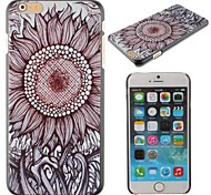 The Beautiful Sunflower Pattern PC Hard Cover for iPhone 6 Plus