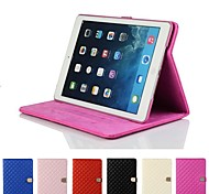 Rhombus Diamond Magnetic Buckle Leather Smart Case Cover Stand for Apple iPad mini 1/2/3(Assorted Colors)