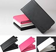 vendita calda cassa di cuoio dell'unità di elaborazione del cuoio di vibrazione 100% per Alcatel One Touch iodl x 6040 / 6040a (colori assortiti)