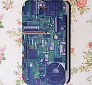 Electronic Circuit Pattern PU Leather Full Body Case with Stand and Card Slot for iPhone 4/4S