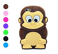 3D Design Cartoon Monkey Pattern Soft Case for iPhone 6 (Assorted Colors)