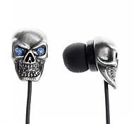 crâne de style effrayant écouteurs intra-auriculaires pour iPhone 6 iphone 6 plus