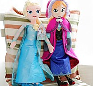 Frozen Sparkle Princess Elsa and AnnaStuffed Soft Plush Doll Anime Action Figures Model Toy (2pcs 21 Inch)