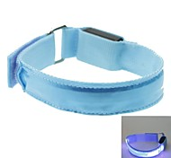 LED Light Color Lattice Arm Band Strap Armband Blue (2xCR2032)