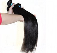 "Unprocessed Peruvian Virgin Human Hair Eextension 1B Natural Black Straigt 100g/pcs Soft Human Hair Weave 8""-30"""