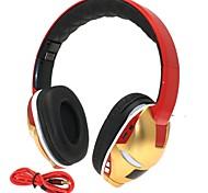oi-fi slot para cartão de homem de ferro 3,5 milímetros tf baixo dobrável música estéreo de fone de ouvido sem fio Bluetooth com microfone tf fm aux