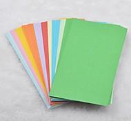 14x7cm 100 páginas de materiais de origami cor sólida